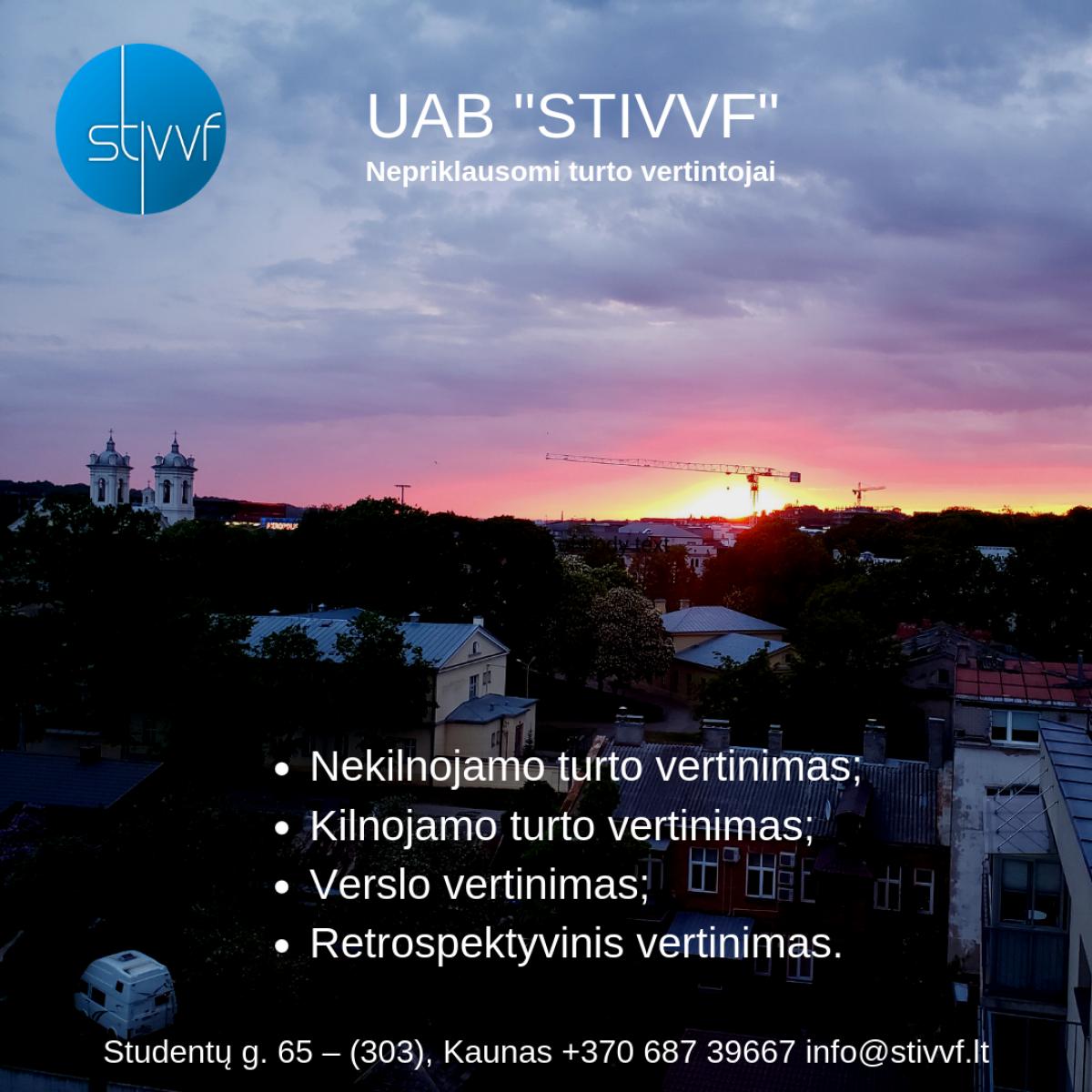 UAB STIVVF – turto vertinimas visoje Lietuvoje